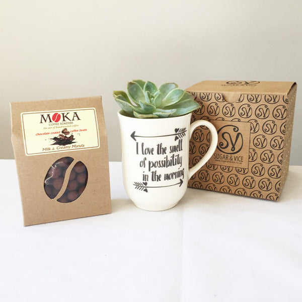 Mug & Chocolate Coated Coffee Beans Gift Set