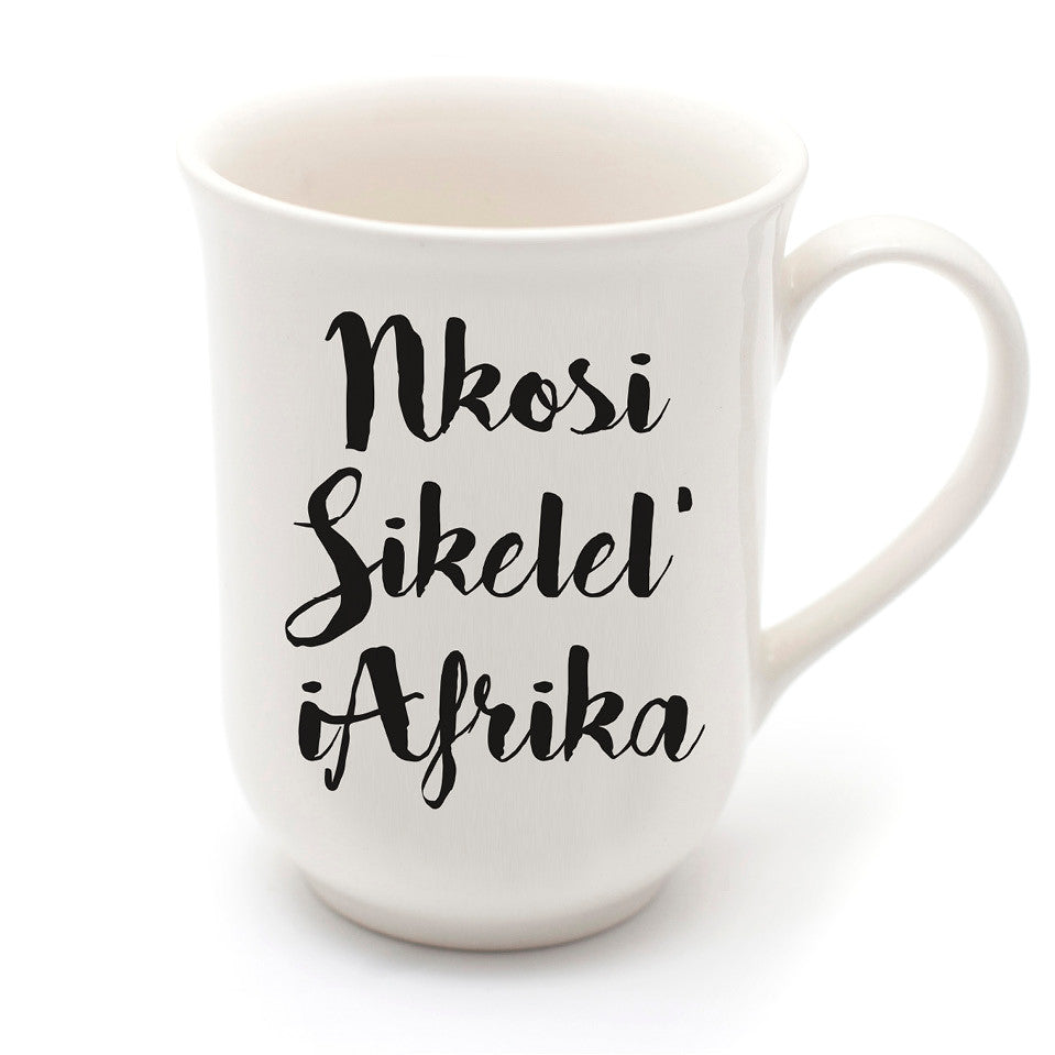 nkosi sikelel iAfrika ceramic mug - sugar and vice - cape town
