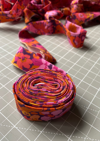 Double fold bias binding for quilts