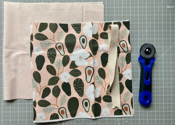 Canvas, fabric, and cotton webbing for tote tutorial.