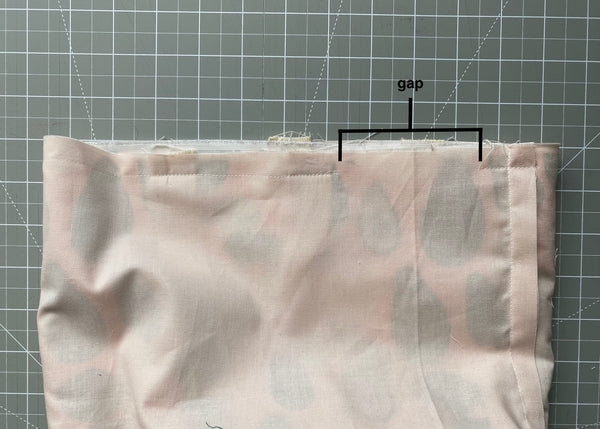 Sew in the lining, leaving a gap.