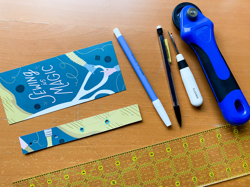 tools and supplies for baptist fan quilt marking