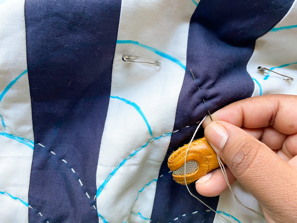 quilting with a running stitch