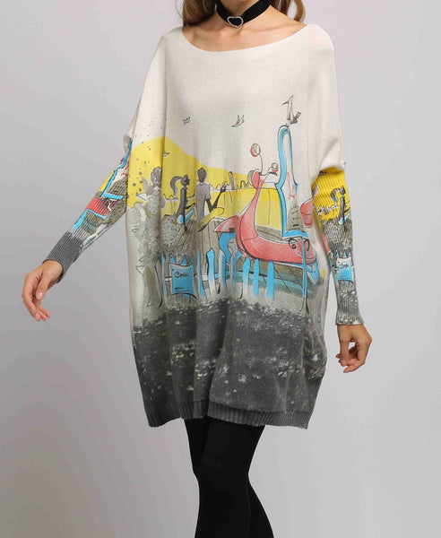 Casual Sweater Sweatshirts DH10 Grey