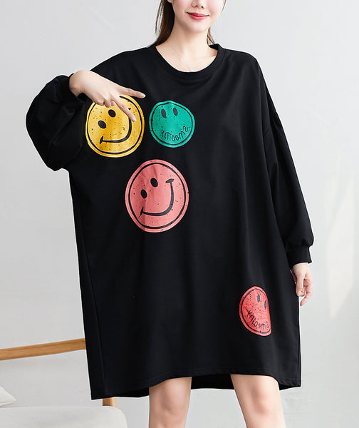 ellazhu Women Pullover Crewneck Long Sleeve Sweatshirt Dress GA2079