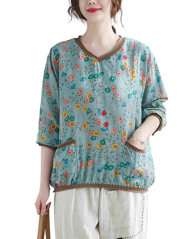 Pullovers Top Tshirt GA2189 Green