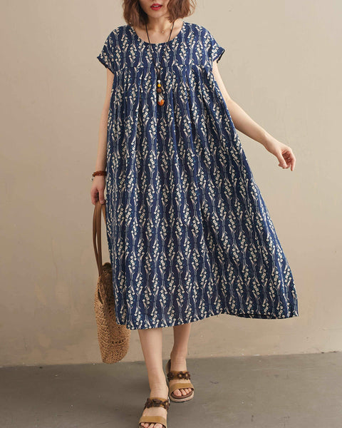 ellazhu Printing Dress GA2209