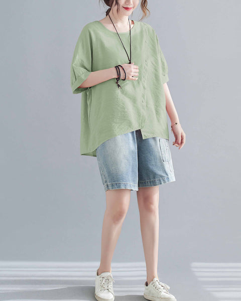 ellazhu Solid Color Tshirt Tops GA2241