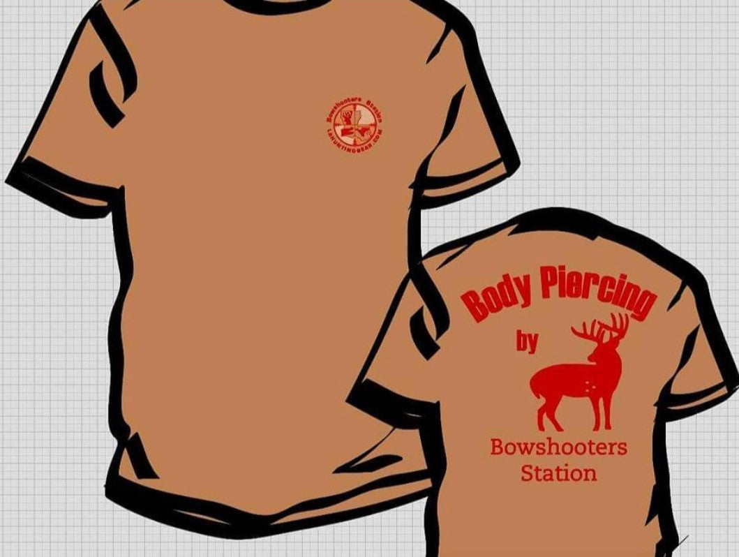 Logo Tan short sleeve cotton tee shirts