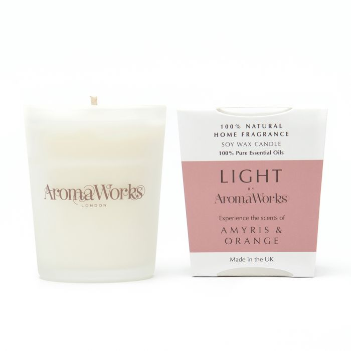 Light Range Amyris & Orange Candle 10cl Small