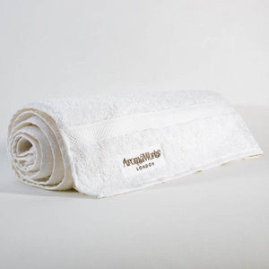 AromaWorks White Embroidered Bath Sheet
