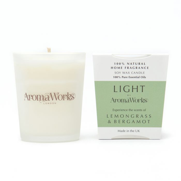 Light Range Lemongrass & Bergamot Candle 10cl Small