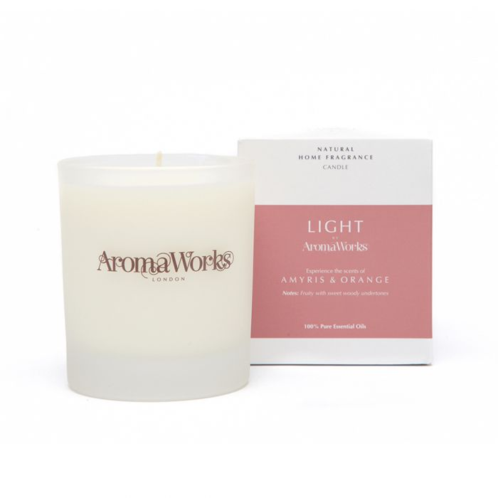 Light Range Amyris & Orange Candle 30cl Medium