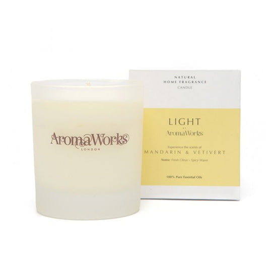 Light Range Mandarin & Vetivert Candle 30cl Medium