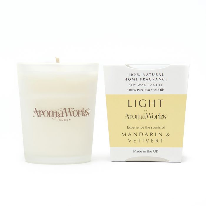 Light Range Mandarin & Vetivert Candle 10cl Small