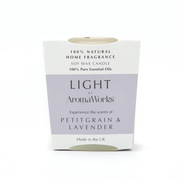 Light Range Petitgrain & Lavender Candle 10cl Small