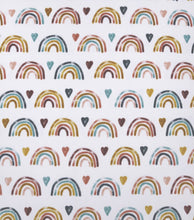 Load image into Gallery viewer, Rainbow Crib Sheet, Fitted Crib Sheet, Baby Bedding, Standard Crib Sheet, Fitted Sheet, Plush Crib Sheet Infant Bedding, Rainbow Baby