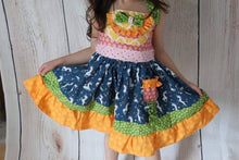 Load image into Gallery viewer, Unicorn Dress, Girls Boutique Dress, Size 2T-8T, Girls Dress, Birthday Dress, Party, CUSTOM DRESS No 2 are the same! 2-6 week turn around