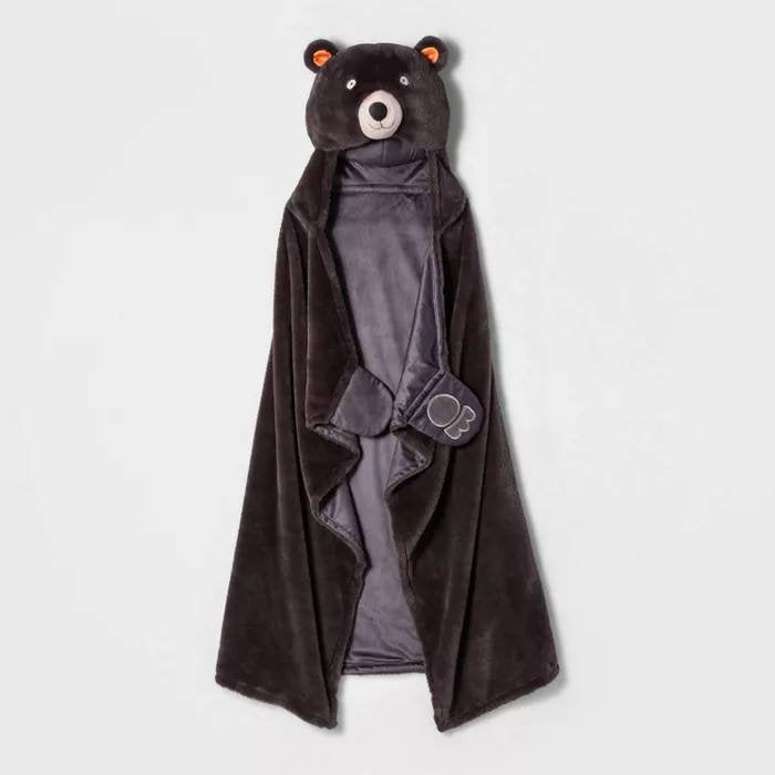 Personalized Bear Hooded Blanket, 50