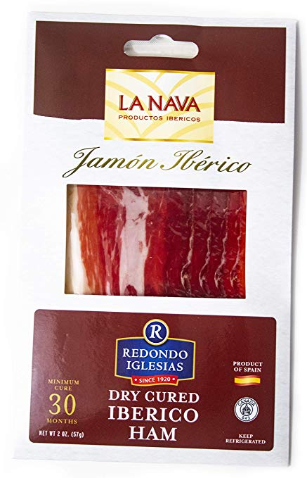 Jamon Iberico La Nava - Sliced 2 oz - 30 months aged dry cured ham - Case