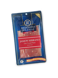 Jamon Serrano - Sliced 3 oz - 15 months aged dry cured ham