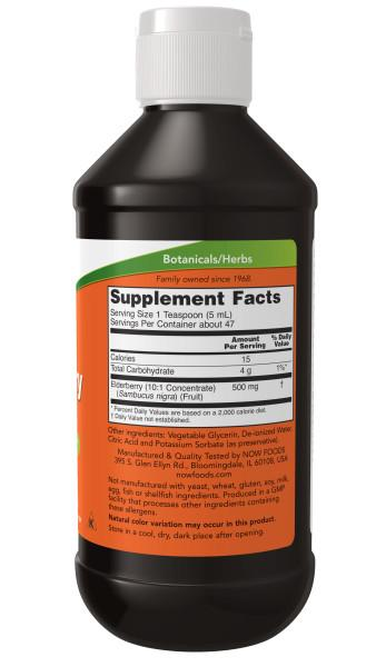 Now Foods - Suplemento Alimenticio a Base de Saúco 237ml