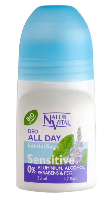 NaturVital - Desodorante Roll-On con Salvia 50ml