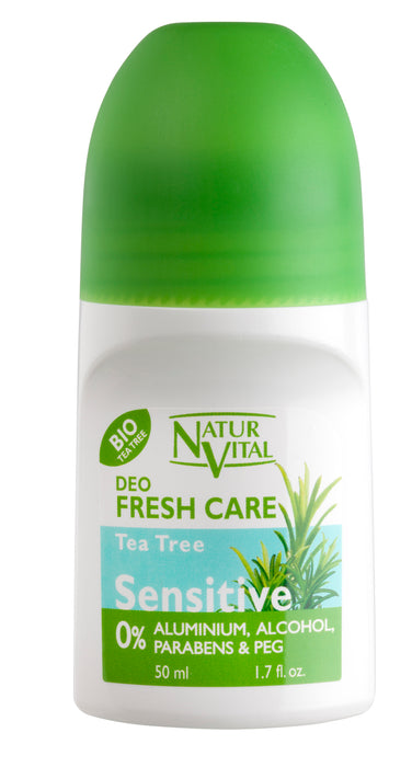 NaturVital - Desodorante Roll-On con Arbol de Té 50ml