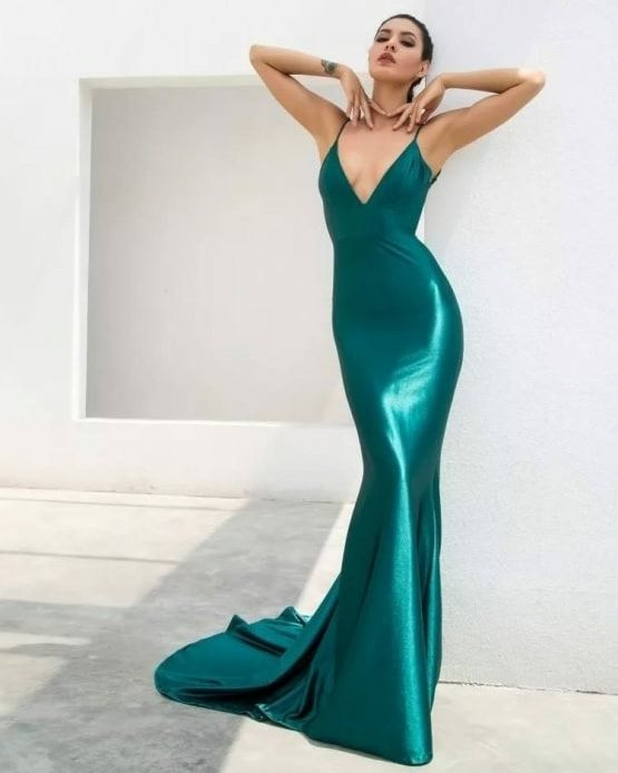 Solas Green Gown