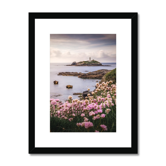 Coastal Springtime! - Godrevy Lighthouse, Cornwall Framed & Mounted Print - Sydspicsprints