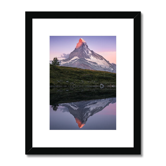 Crown of Fire! - Leisee, Switzerland Framed & Mounted Print