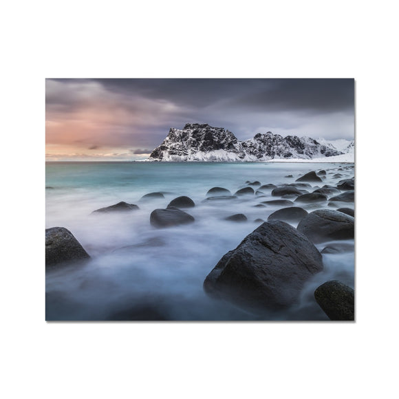 A palette of colours - Uttakleiv Beach, Lofoten Fine Art Print