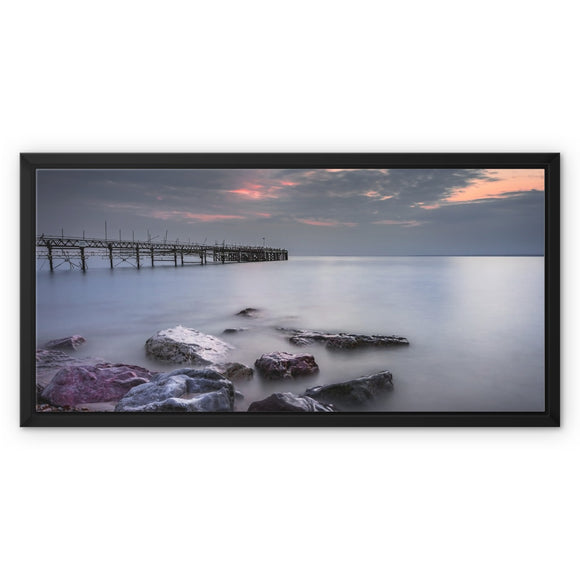 Smooooth! - Totland Bay Pier, Isle of Wight Framed Canvas - Sydspicsprints