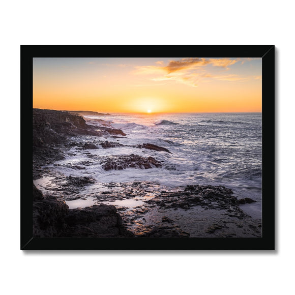 Where forces of nature collide! - Janubio, Lanzarote Framed Print