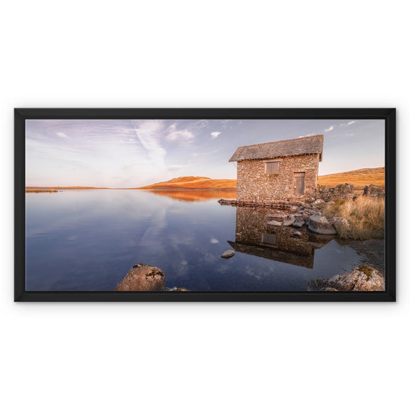 Cumbrian Reflections - Devoke Water, Lake District, United Kingdom Framed Canvas