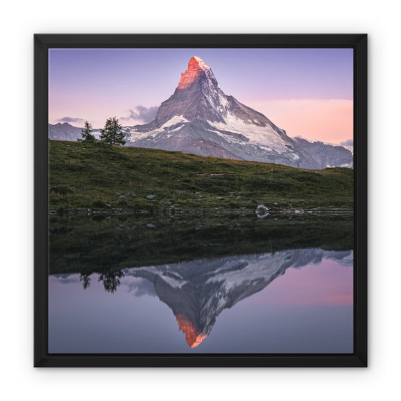 Crown of Fire! - Leisee, Switzerland Framed Canvas