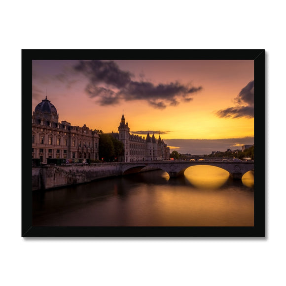 Golden Paris! - Le Conciergerie from Pont Notre Dame Framed Print - Sydspicsprints