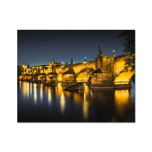 Luminescent Bridge! - Charles Bridge, Prague Fine Art Print - Sydspicsprints