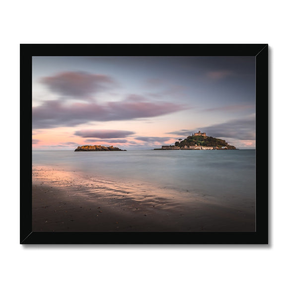 Hoar rock in woodland!  - St Michael's Mount, Cornwall Framed Print - Sydspicsprints