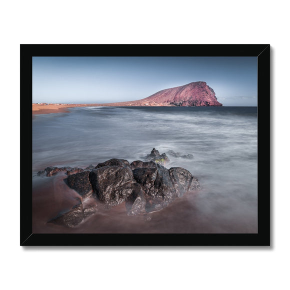 The Red Mountain! - Montana Roja, Playa de la Tejita, Tenerife Framed Print