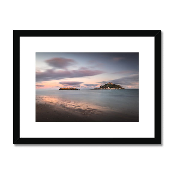 Hoar rock in woodland!  - St Michael's Mount, Cornwall Framed & Mounted Print - Sydspicsprints