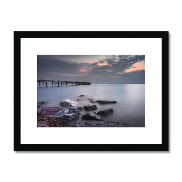 Smooooth! - Totland Bay Pier, Isle of Wight Framed & Mounted Print - Sydspicsprints