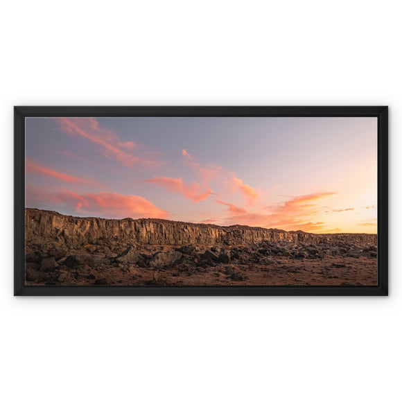 A painting in the desert! - Janubio, Lanzarote Framed Canvas