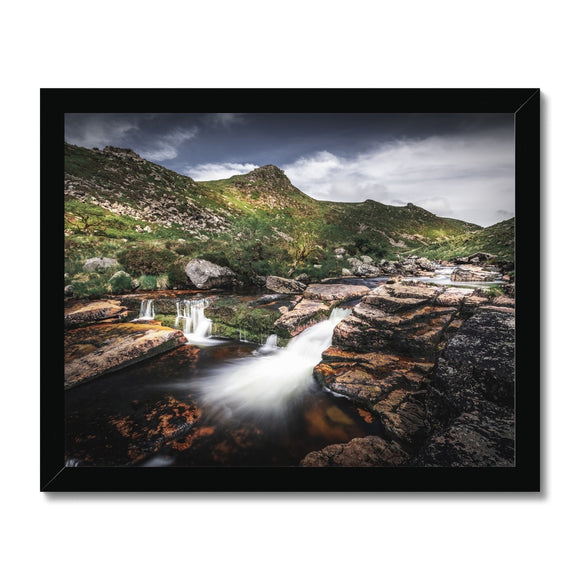 Carved by water - Tavy Cleave, Dartmoor Framed Print