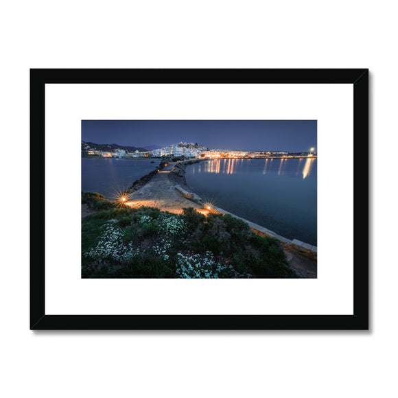 Aegean Twilight - Naxos, Greece Framed & Mounted Print - Sydspicsprints