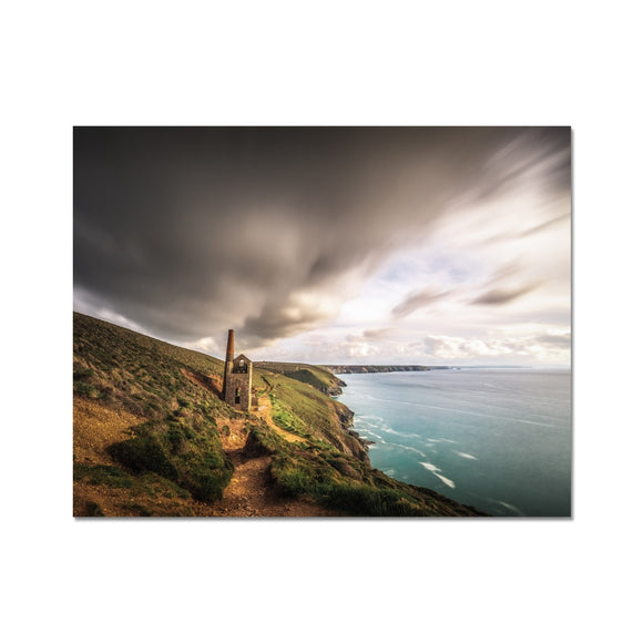 The Chimney Storm! - Wheal Coates, Cornwall Fine Art Print - Sydspicsprints