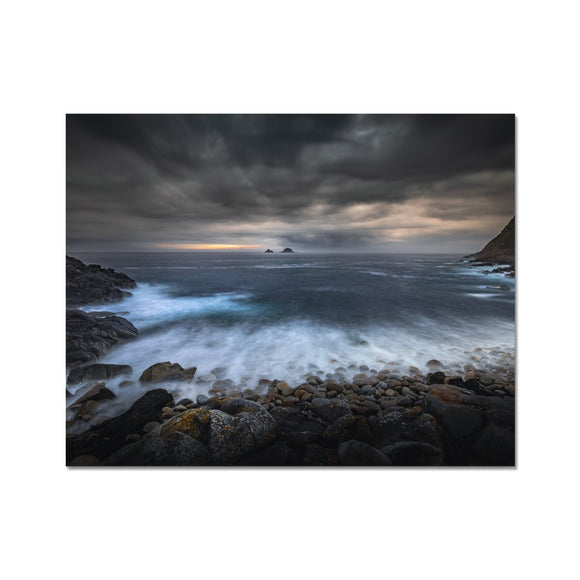Break Through! - Porth Nanven, Cornwall Fine Art Print - Sydspicsprints