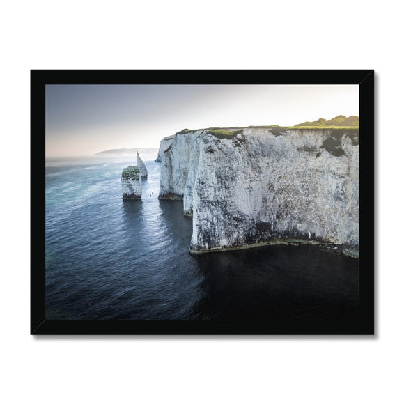 Canoeing in No Man's Land - Old Harry Rocks Framed Print