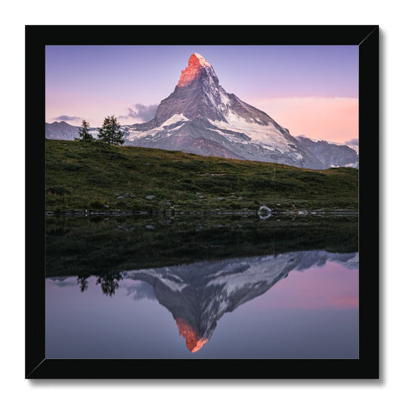 Crown of Fire! - Leisee, Switzerland Framed Print