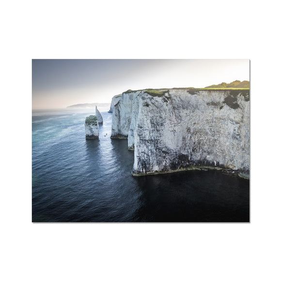 Canoeing in No Man's Land - Old Harry Rocks Fine Art Print